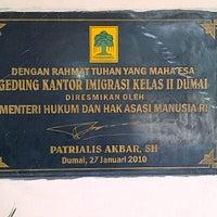 Photo taken at Kantor Imigrasi Kelas II Dumai by Sugiono D. on 3/1/2012