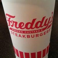 Photo taken at Freddy's Frozen Custard & Steakburgers by Carrie W. on 4/18/2012