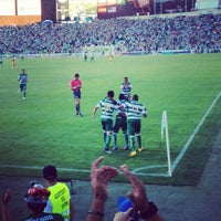 Photo taken at Territorio Santos Modelo Estadio by Ingrid M. on 4/22/2012