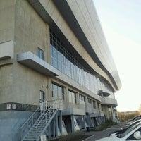Photo taken at Daulet National Tennis Centre by Ardak I. on 4/24/2012