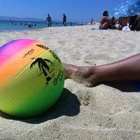 Photo taken at Plaka Beach by Ninar Q. on 8/6/2012