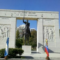 Photo taken at Parque Rivadavia by Andrea on 4/13/2012