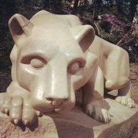Photo taken at Nittany Lion Shrine by Scott I. on 4/4/2012