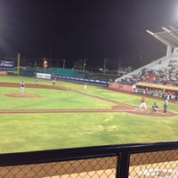 Photo taken at Estadio Nelson Barrera Romellón by Juan Carlos M. on 5/5/2012
