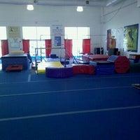 Photo taken at Acro Fit Gymnastics Center by Jonny A. on 4/17/2012