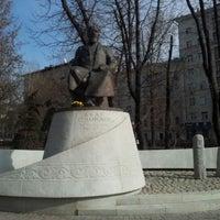 Photo taken at Abay Kunanbayev Monument by Natalia A. on 4/17/2012