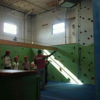 Photo taken at Doylestown Rock Gym & Adventure Center by Steven T. on 2/18/2012