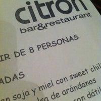 Photo taken at Citron Bar & Restaurant by Grace_rg on 6/28/2012