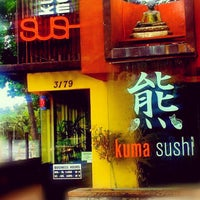 Photo taken at KUMA Sushi by Juliet V. on 4/26/2012