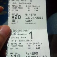 Photo taken at Golden Screen Cinemas (GSC) by Ariana A. on 4/13/2012