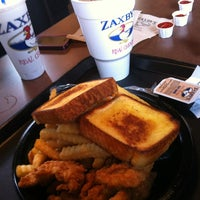 Photo taken at Zaxby's Chicken Fingers & Buffalo Wings by Philip C. on 2/23/2012