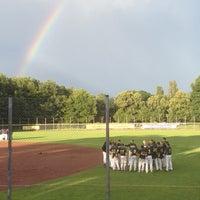 Das Foto wurde bei Baseballstadion Rheinaue von johannes n. am 7/14/2012 aufgenommen