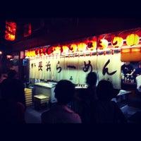 Photo taken at 博多長浜ラーメン みよし by matenro on 6/4/2012
