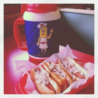 Photo taken at Brighton Hot Dog Shoppe by Jim W. on 6/29/2012