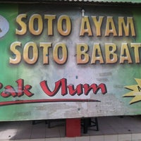 Photo taken at Soto Babat Pak Ulum, Boja by Agung W. on 2/17/2012