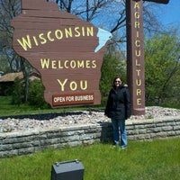 Photo taken at Wisconsin/Illinois State Line by Ang C. on 4/27/2012