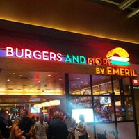 Photo taken at Burgers and More by Emeril by Alexis V. on 9/3/2012