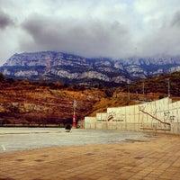 Photo taken at Monistrol de Montserrat by Tommy T. on 8/10/2012