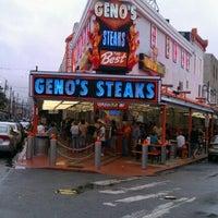 Photo taken at Geno's Steaks by Dwayne B. on 9/3/2012