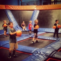 Photo taken at Sky Zone Indoor Trampoline Park by N F. on 8/4/2012