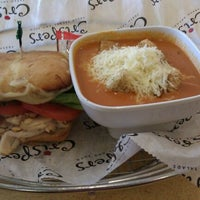 Photo taken at Crispers Fresh Salads, Soups and Sandwiches by Abner E. on 4/3/2012