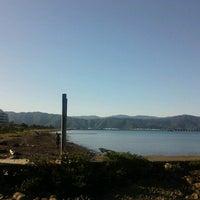 Photo taken at Petone Beach by Kathryn M. on 8/23/2012