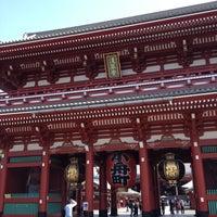 Photo taken at Hozomon Gate by Thuvanon J. on 5/26/2012