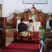 Photo taken at Gereja Kristen Jawa Bekasi by Guruminda U. on 7/7/2012