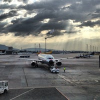 Photo taken at Sofia Airport (SOF) by Lora R. on 7/25/2012