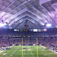 Photo taken at Hubert H. Humphrey Metrodome by Stephanie W. on 8/25/2012