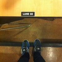 Photo taken at Bowlero Lanes by Mireya P. on 4/12/2012