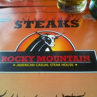 Photo taken at Rocky Mountain - American Casual Steak House by Marius D. on 5/5/2012