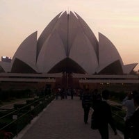 Photo taken at Lotus Temple (Bahá'í House of Worship) by Cristiano T. on 2/29/2012