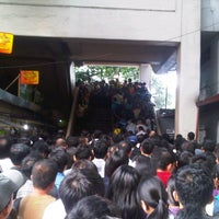 Photo taken at Yellow Line - Quezon Avenue Station by Ceejay d. on 9/12/2012