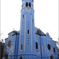 Photo taken at Kostol sv. Alžbety (The Blue Church) by Pali K. on 3/23/2012