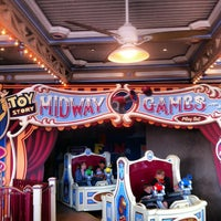 Photo taken at Toy Story Midway Mania! by Mousetalgia P. on 5/13/2012