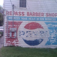 Photo taken at Repass Barber Shop by Mike B. on 9/1/2012