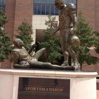 Photo taken at Sportsmanship Statue by Kara H. on 8/30/2012