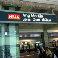 Photo taken at Ang Mo Kio MRT Station (NS16) by pris y. on 2/17/2012