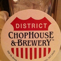 Photo taken at District Chophouse & Brewery by Jordan D. on 4/17/2012