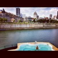 Photo taken at Bota Bota, spa-sur-l'eau by Geneviève E. on 8/13/2012