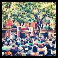 Photo taken at Plaça de la Vila de Gràcia by Gabriel C. on 9/9/2012