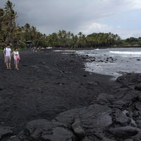 Photo taken at Punalu'u Black Sand Beach by Tim C. on 5/24/2012