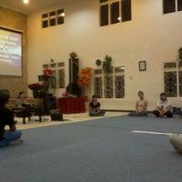 Photo taken at GBT Kristus Raja Damai by Isaac Y. on 2/27/2012