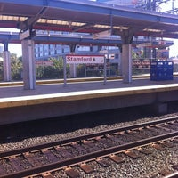 Photo taken at Stamford Transportation Center Bus/Train (STM) Metro North & Amtrak by Paul B. on 8/29/2012