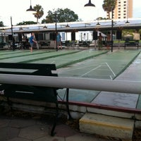 Photo taken at St. Petersburg Shuffleboard Club by Geneva A. on 7/14/2012