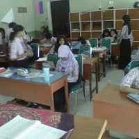 Photo taken at 8G class (JHS 1 Kediri) by Lintang M. on 4/11/2012
