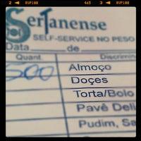 Photo taken at Sertanense Restaurante e Lanchonete by M_Leandro on 6/7/2012