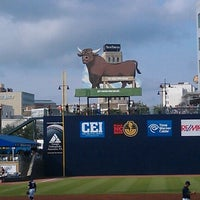 Photo taken at Durham Bulls Athletic Park by Joshua J. on 7/22/2012