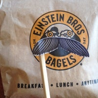 Photo taken at Einstein Bros Bagels by Jennifer S. on 3/30/2012